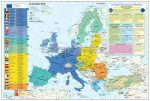 Az Európai Unió  + gazdasági térkép poszter kétoldalas