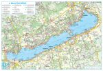 A Balaton régió térképe, fémléces