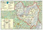Kovászna megye (Románia) térképe, tűzhető, keretes