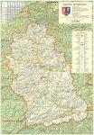 Hunyad megye (Románia) térképe, tűzhető, keretes
