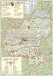 Maros megye (Románia) térképe, tűzhető, keretes