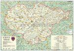 Szilágy megye (Románia) térképe, tűzhető, keretes
