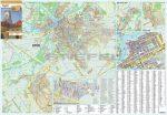 Győr város térképe, tűzhető, keretes