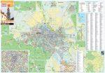 Sopron város térképe, tűzhető, keretes