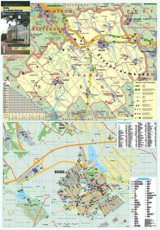 bicske térkép Bicske és a Bicskei kistérség térkép, fémléces bicske térkép
