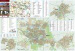 Gyula-Sarkad-Elek térkép, keretezett, tűzhető