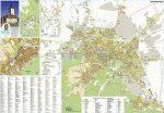 Brassó város (Románia) térképe, tűzhető, keretes