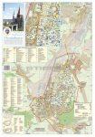 Vajdahunyad város (Románia) térképe, tűzhető, keretes