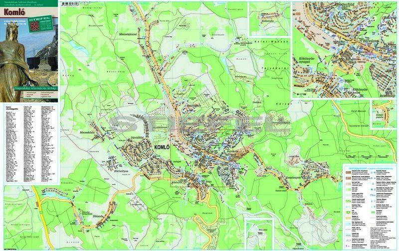 komló térkép Komló várostérkép hajtogatott komló térkép