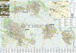 Szarvas, Gyomaendrőd, Kondoros és Békésszentandrás térkép, fémléces