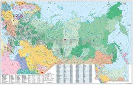 Oroszország és Kelet-Európa irányítószámos térképe