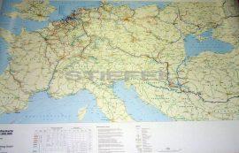 A Duna hajózási térképe, Európa víziúthálózata (írható, tűzhető, keretes)