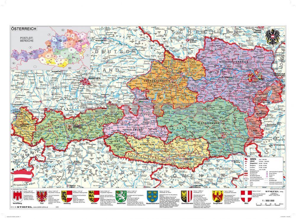 ausztria térkép városok Európai Közigazgatási Térkép – PWN The Code ausztria térkép városok