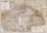 A Magyar Szent Korona országainak közigazgatási térképe fakeretben (1906)