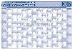 Éves tervezőnaptár 2017 100x70 cm ajándék kék színű filctollal