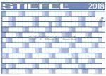 Éves projektnaptár 2018 100x70 cm ajándék kék színű filctollal