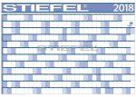 Éves projektnaptár 100x70 fémléces 2018 ajándék kék színű filctollal