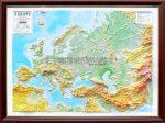 Európa domborított térképe, keretes