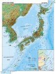 Japán és Korea, domborzati (angol v. német)