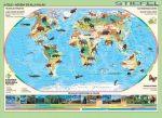 A Föld állatai kisméretű falitérkép
