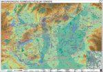 Magyarország természetvédelmi térképe fémléces