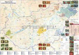 Magyarország pálinkatérképe fémléces, fóliázott