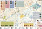 Magyarország pálinkatérképe (többnyelvű, keretezett)