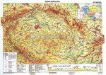 Csehország domborzati térképe, tűzhető, keretes