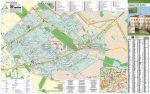 Budapest XVI. Kerület térkép, fémléces