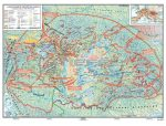 A magyar nép vándorlása és a Honfoglalás kétoldalas óriás térkép-poszter