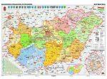Magyarország közigazgatása és közlekedése DUO óriástérkép poszter