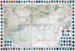 Magyarország dombortérképe keretes
