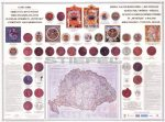 Erdély és a kiváltságos területek címerei és pecsétjei poszter