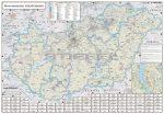 Magyarország Fürdőtérképe keretezett, tűzhető