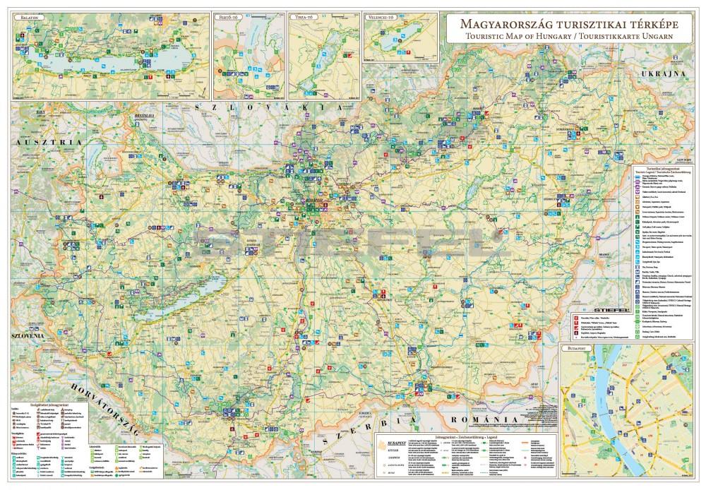 magyarország turisztikai térkép Magyarország turisztikai térképe féméces magyarország turisztikai térkép
