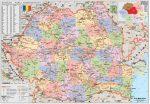 Románia politikai térképe (román nyelvű)