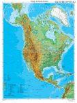 Észak-Amerika domborzati térképe