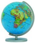 COLUMBUS DUPLEX világítós, asztali, akril, DUO földgömb, ezüst színű talppal és meridiánnal