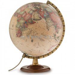Földgömb 30 cm antik, fatalpas