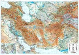 A Selyemút országai (általános földrajzi térkép)