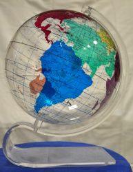 Földgömb Opál 30 cm, angol nyelvű