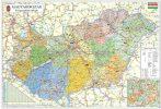 Magyarország közigazgatása és közlekedése térkép wandi