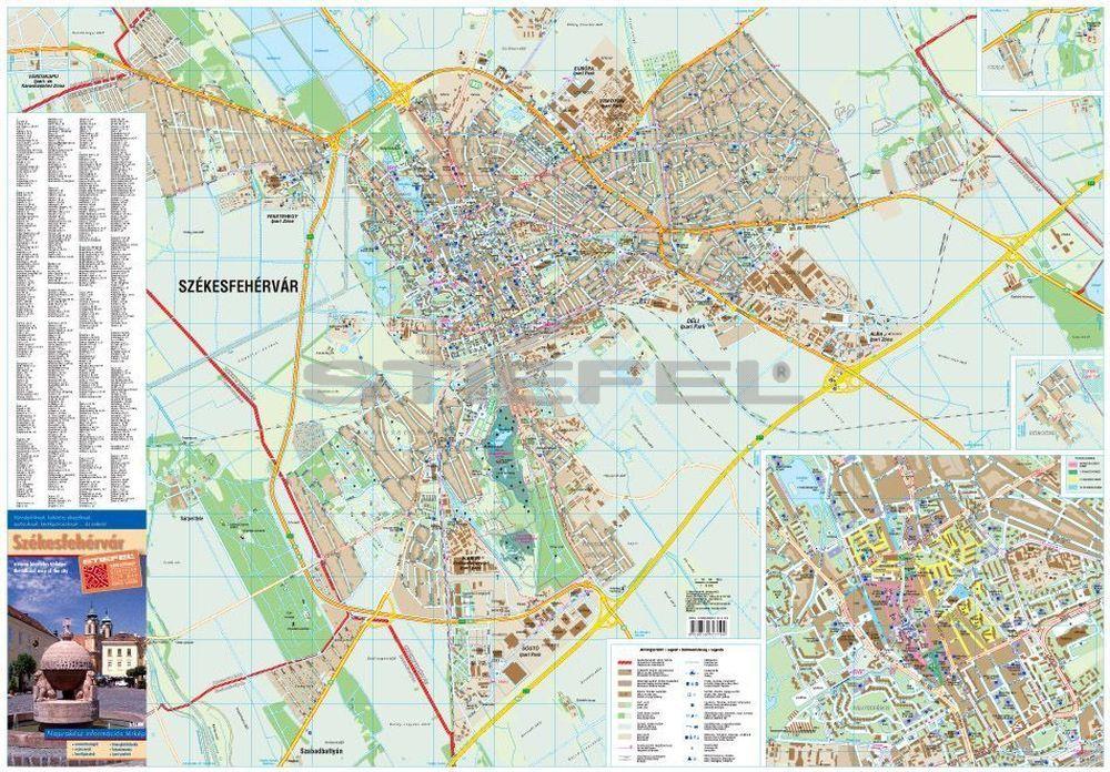 Székesfehérvár fémléces térkép