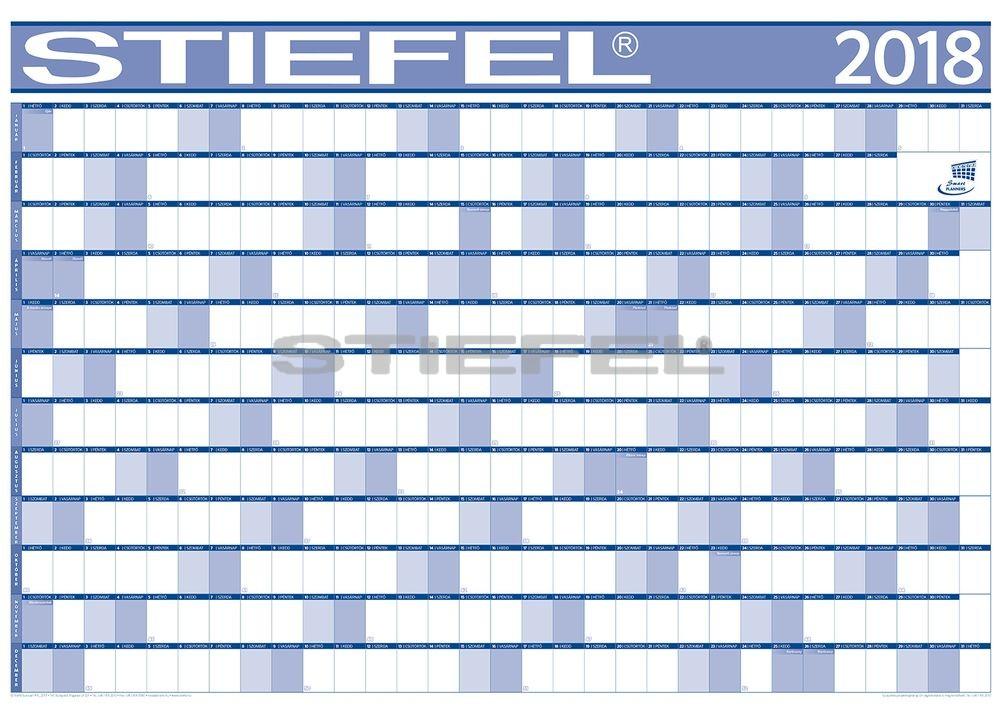 Éves projektnaptár 2018 140x100 cm ajándék kék színű filctollal