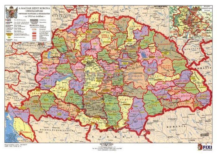 A Magyar Szent Korona országai + vármegyecímerek tanulói munkalap