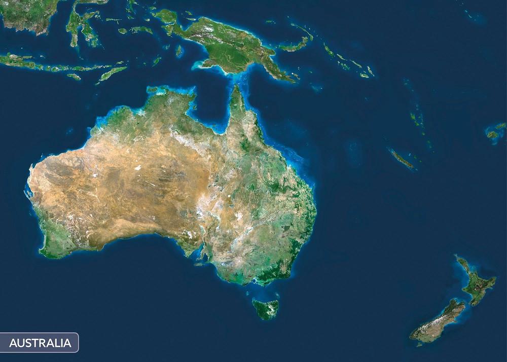 Ausztrália a világűrből