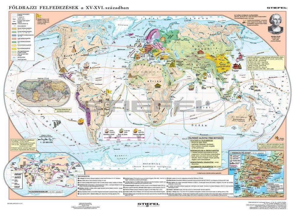 A nagy földrajzi felfedezések + a reneszánsz és humanizmus óriás poszter