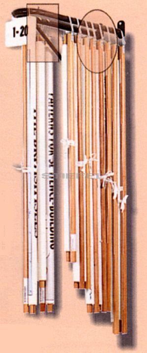 Térképtároló (kétkarú, falra szerelhető, falra merőleges)