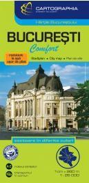 Bukarest Comfort térkép (laminált)