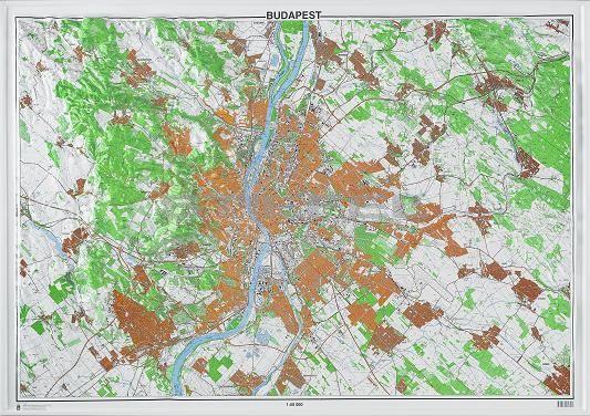Budapest dombortérképe